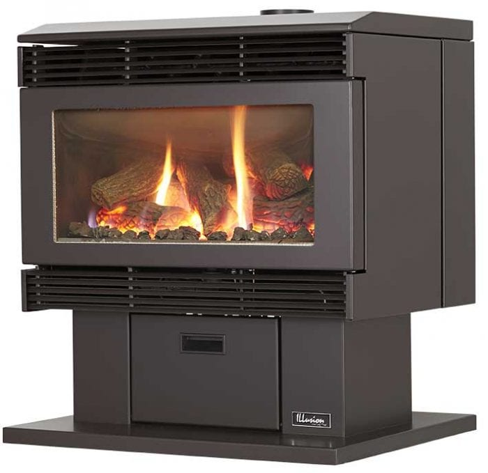 Esprit 63 Freestanding Gas Log Fire