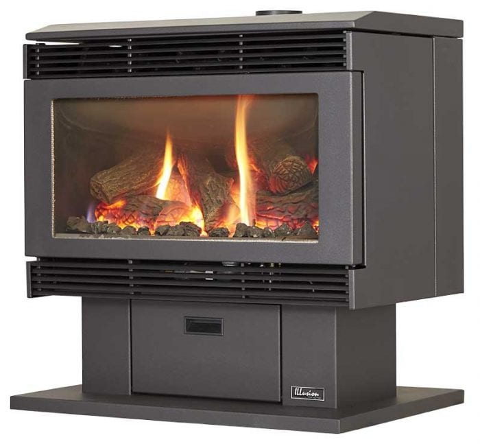 Esprit 70 Freestanding Gas Log Fire