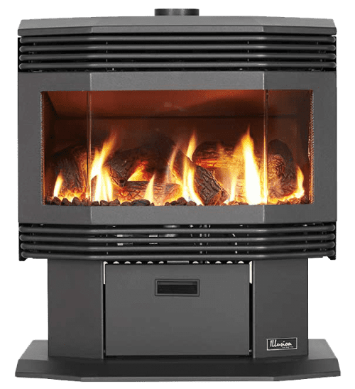 Millennium 33 Freestanding Gas Log Fire