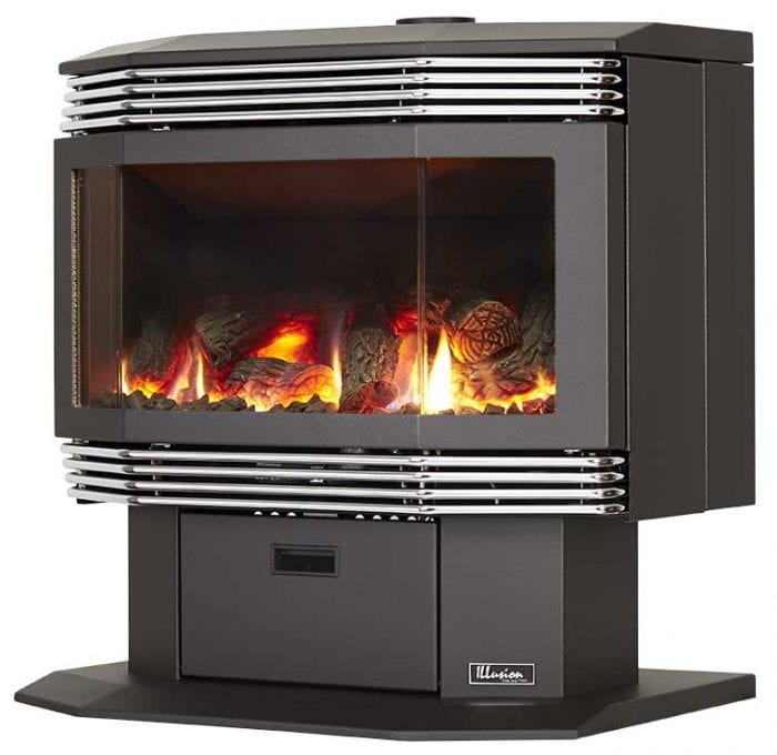 Millennium 40 Freestanding Gas Log Fire