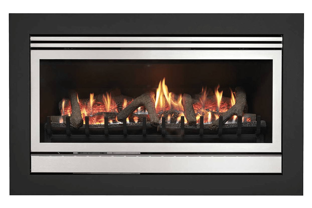 Realistic gas log fires