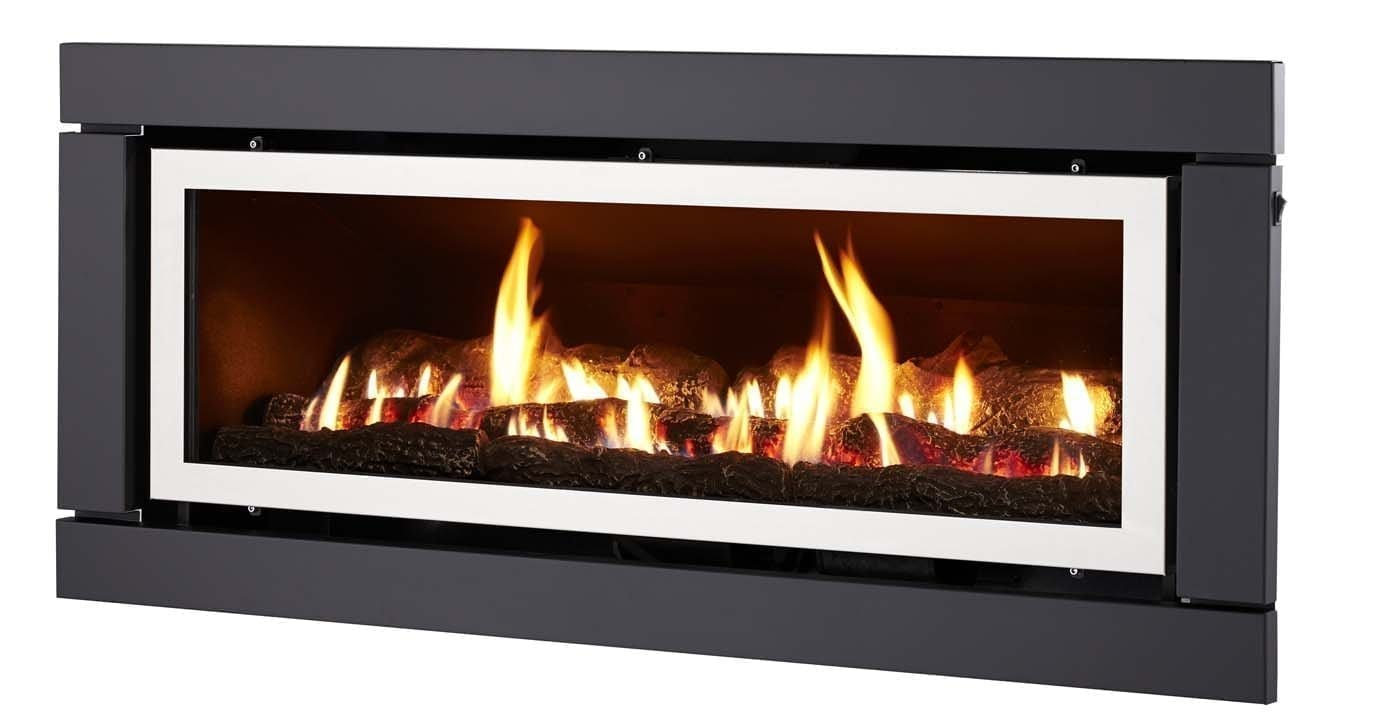 Luminar 4000 Inbuilt Gas Log Fire Illusion Gas Log Fires