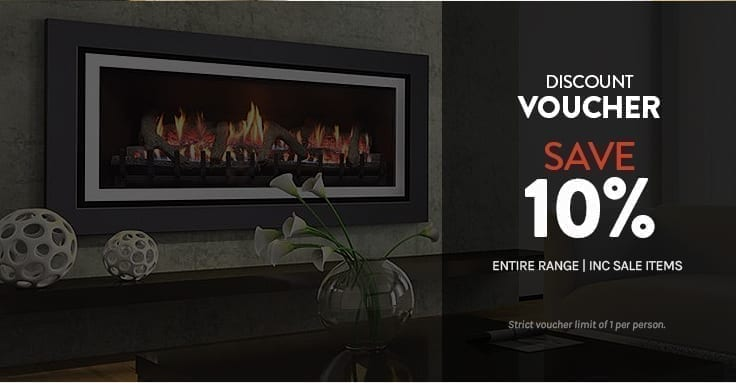 Discount voucher on entire range of gas log fires