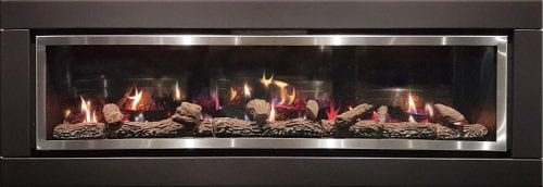Luminar 6000 Inbuilt Gas Log Fire